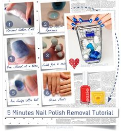 Check out how to remove nail polish in just  5 minutes