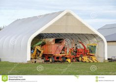 Modern Farm Equipment Storage