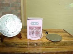 Dollhouse Miniature 1:12 Cookware & Tableware  Coffee Maker Pink  #3114PK #FalconMiniatures