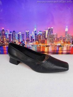 Womens shoes ETIENNE AIGNER Twiggy black soft kidskin SPAIN Dress Pumps sz 8.5 M #EtienneAigner #PumpsClassics