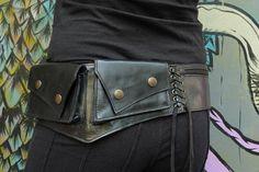 Leather Utility Belt Handmade Hip Belt Fanny Pack