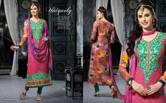 dress material only at 2499 Ethnic, Kimono Top, Embroidery, Suits, Winter, Collection, Tops, Dresses, Vestidos