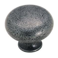 "Knob 1-1/4"" Diameter - Wrought Iron (#BP771-WI) by Amerock"