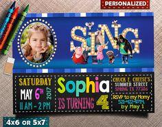 Sing Invitation Sing Invite Sing Birthday Sing Party Sing