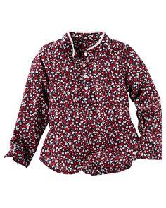 Kid Girl Floral Popover Poplin Top From OshKosh Bgosh Shop Clothing Amp
