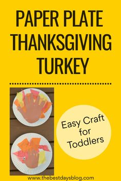 This Thanksgiving turkey craft is really easy to make. A fun activity to do with your toddler this year. #thanksgivingcraft #turkeycraft #craftsfortoddlers Thanksgiving Crafts For Toddlers, Thanksgiving Turkey, Crafts For Kids, Easy Toddler Crafts, Easy Crafts, Tissue Paper Trees, Turkey Craft, Fun Activities To Do, Halloween Crafts
