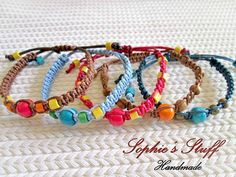 Eco-frendly colorful macrame bracelets