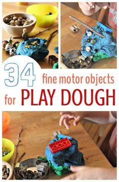 Mobilo work cards 16 pieces mobilo mathematics for Playdough fine motor skills