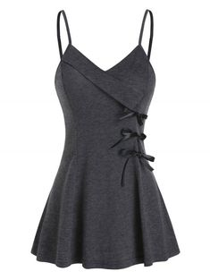 Lace Up T Shirt, Cheap Tank Tops, Really Cute Outfits, Fashion Tips For Women, Men Fashion, Casual Tops For Women, Long Tops, Cute Tops, Casual Dresses