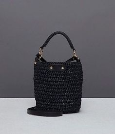 The Mini Raffia Bucket Bag from the DVF Winter '17/18 Collection.