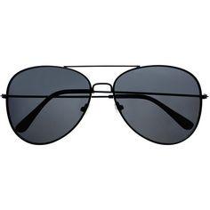Premium Polarized Lens Classic Metal Aviator Sunglasses Shades A64... ($11) ❤ liked on Polyvore