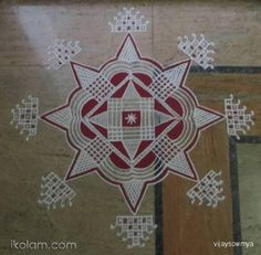 Rangoli Padikolam for friday freehand | www.iKolam.com