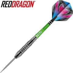 Red Dragon Peter Wright Snakebite Brass Darts mit Flights und Sch/äfte