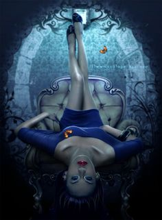 Amazing Digital Art by Ana Fagarazzi Fantasy Women, Dark Fantasy, Image Emotion, Cg Art, Gothic Art, Fantasy Artwork, Photo Manipulation, Les Oeuvres, Cover Art