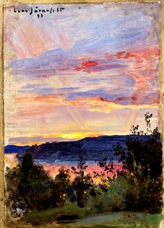 Eero Järnefelt - Sunset, 1893