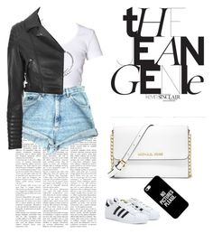 Лето by lizalizash on Polyvore featuring polyvore, fashion, style, Glamorous, adidas, MICHAEL Michael Kors and Casetify