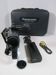 Panasonic OmniMovie Camcorder PV-908 VHS With Case #Panasonic