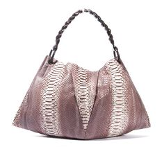 Nancy Gonzalez Python & Crocodile Patchwork Hobo Shoulder Bag