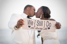 A lovely way to announce your vow renewal!