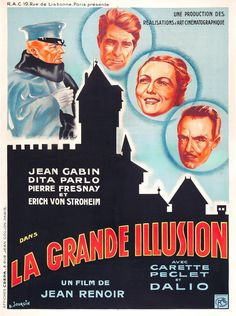 Buy online, view images and see past prices for La Grande Illusion (R. Films Cinema, Cinema Posters, Film Posters, Jean Renoir, Illusion Movie, Industrial Bands, Erich Von Stroheim, Study German, Jean Gabin