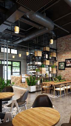 Vintage Cafe Design, Cafe Shop Design, Pub Design, Lounge Design, Restaurant Interior Design, Cabin Design, Industrial Restaurant Design, Industrial Office Design, Industrial Cafe