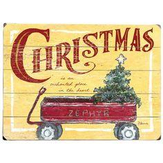 Christmas Wagon Wall Sign