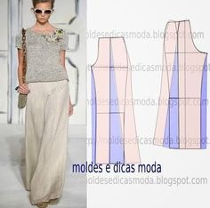 Google+ Parachute Pants, Lace Skirt, Two Pieces, Skirts, Dresses, Fashion, Flowy Pants, Yarns, Step By Step