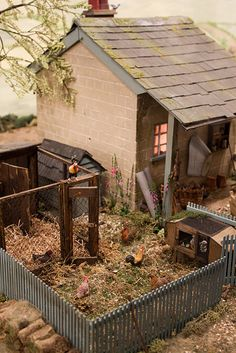 Miniature Farm House - Chicken coup. 1/12 scale.
