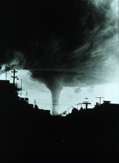 Vintage picture of a tornado in Joplin, MO