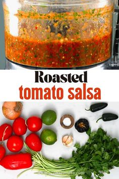 This Mexican fire roasted salsa is packed with a slightly smoky spicy flavor, comes together in 30 minutes, and makes for a truly versatile condiment! Plus, all you need is 7 ingredients for this gluten-free, vegan roasted tomato salsa!