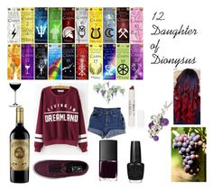 """""""12. Daughter of Dionysus"""" by zalaneacoles ❤ liked on Polyvore featuring Vans, NARS Cosmetics, Georg Jensen, Riedel and Topshop"""