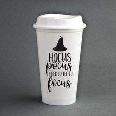Insulated Cups, Need Coffee, Hocus Pocus, To Focus, Tissue Paper, Dishwasher, Mugs, Gifts, Etsy