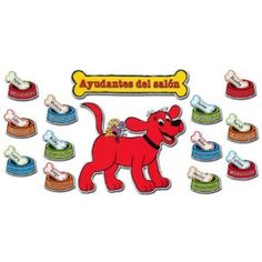 Clifford Classroom Helpers Spanish Bulletin Board Set - National School Products - Main Store