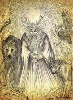 The Leshy is a male woodland spirit in Slavic mythology who protects wild animals and forests.