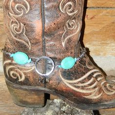 Dee's Creations 15 ~ Products ~ Turquoise and rhinestone Boot Bling ~ Shopify