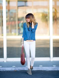 denim shirt and red lips, alwayswinning - a house in the hills - interiors, style, food, and dogs