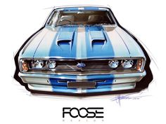 CHIP FOOSE Talks Aussie cars and our love of the four door sedan Chip Foose, New Audi Car, Audi Tt, Ford Mustang Eleanor, Cool Car Drawings, Preppy Car, Bmw Series, Car Illustration, Illustrations