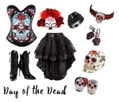 """""""Day of the dead"""" by sparkle-septiceye ❤ liked on Polyvore featuring Giuseppe Zanotti and Masquerade"""