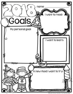 Set goals with your students! Grab this freebie for the new year.