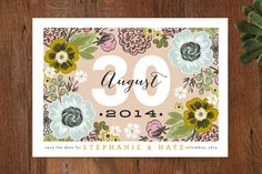 save the date, cottage garden by alethea & ruth for minted