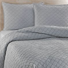 Bed Bath & Beyond Traditions Linens Louisa Coverlet in Mist on shopstyle.com