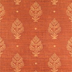 Fareeza #wallpaper in #rust from the Tamarind collection. #Thibaut