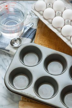 Poached Eggs in the Oven? — Putting Tips to the Test in The Kitchn Eggs In Muffin Tin, Muffin Tins, Batch Cooking, Cooking Tips, Cooking Recipes, Healthy Recipes, Breakfast Dishes, Breakfast Recipes, Breakfast Ideas