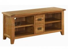 Vancouver Oak TV Unit with 4 Shelves and 2 Drawers is crafted from reclaimed and sustainable oak and is exceptionally well-crafted. Finished in a mixture of wax and oil, this piece is crafted using artisan methods. £485.99