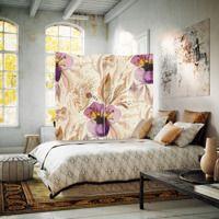 Fioletowe kwiaty, Parawan ozdobny jednostronny na płótnie - Canvas | Internetowy sklep z obrazami Feeby.pl