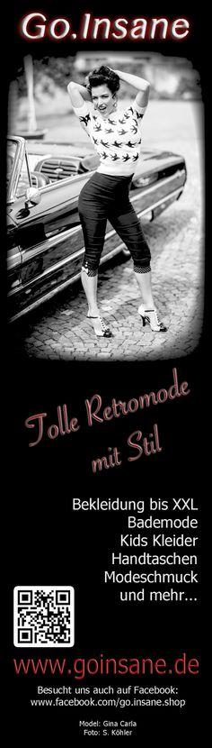 Unsere neue Anzeige in der 5. Ausgabe vom Vintage Flaneur!   www.goinsane.de  www.facebook.com/go.insane.shop www.twitter.com/goinsaneshop www.pinterest.com/goinsaneshop  Model: Gina Carla Foto: S. Köhler  #retro #40s #50s #vintage #SugarShock #goinsane #ginacarla