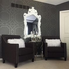 Master Bedroom - Haneen's Haven Couches, Bedroom Sitting Room, Trendy Furniture, Black Decor, Living Room Inspiration, Decorating Blogs, Interior Design, Home Decor, Bedroom Ideas