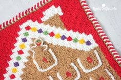 Crochet C2C Gingerbread House Advent Calendar
