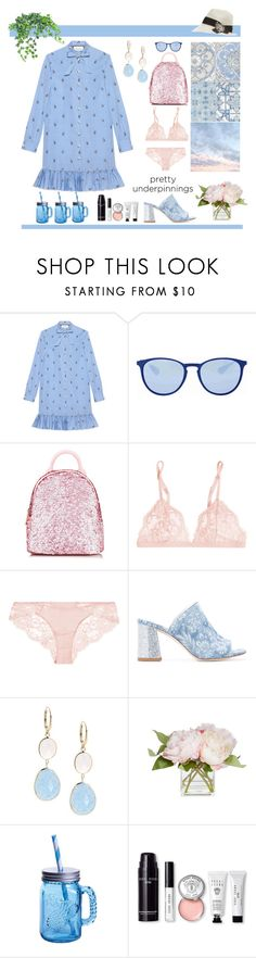 """""""#prettyunderpinnings"""" by hbee-1234 ❤ liked on Polyvore featuring Gucci, Ray-Ban, La Perla, Polly Plume, Waverly, Saks Fifth Avenue, Fitz & Floyd, Bobbi Brown Cosmetics, Brunello Cucinelli and prettyunderpinnings"""