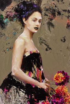 Lita Cabellut - Color of Dew 08